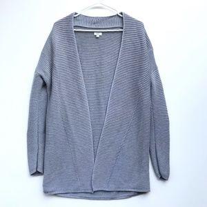 Vince Ribbed Knit Open Cardigan Sweater Medium
